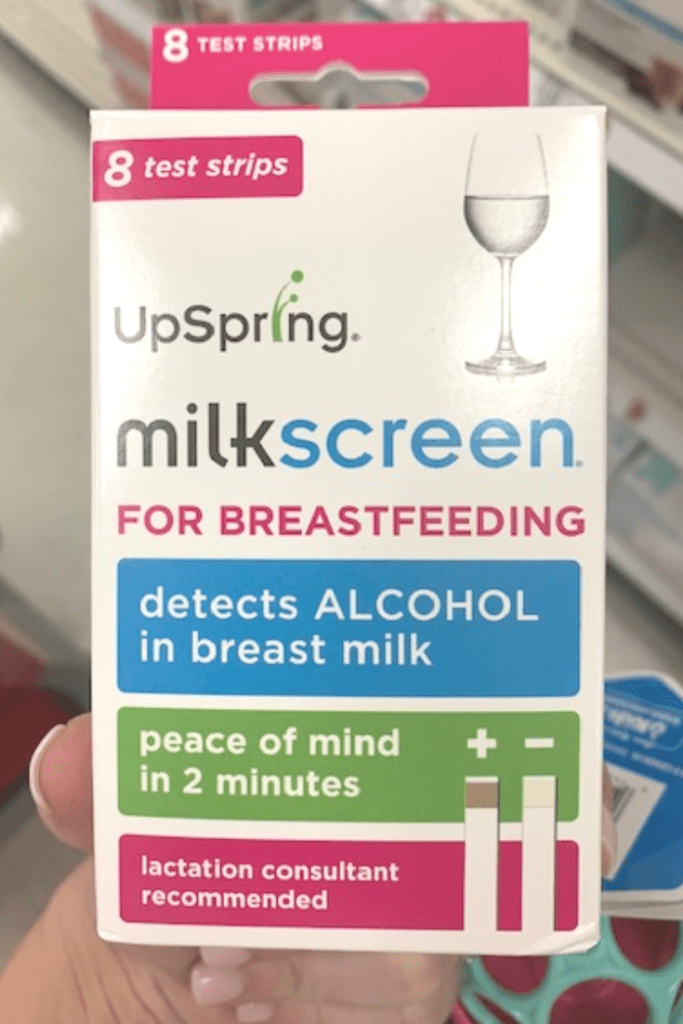 Alcohol and breastfeeding- strips to test if there is alcohol in your breastmilk