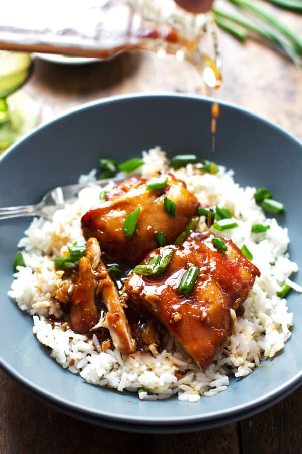 Bourbon Chicken from a Pinch of Yum!