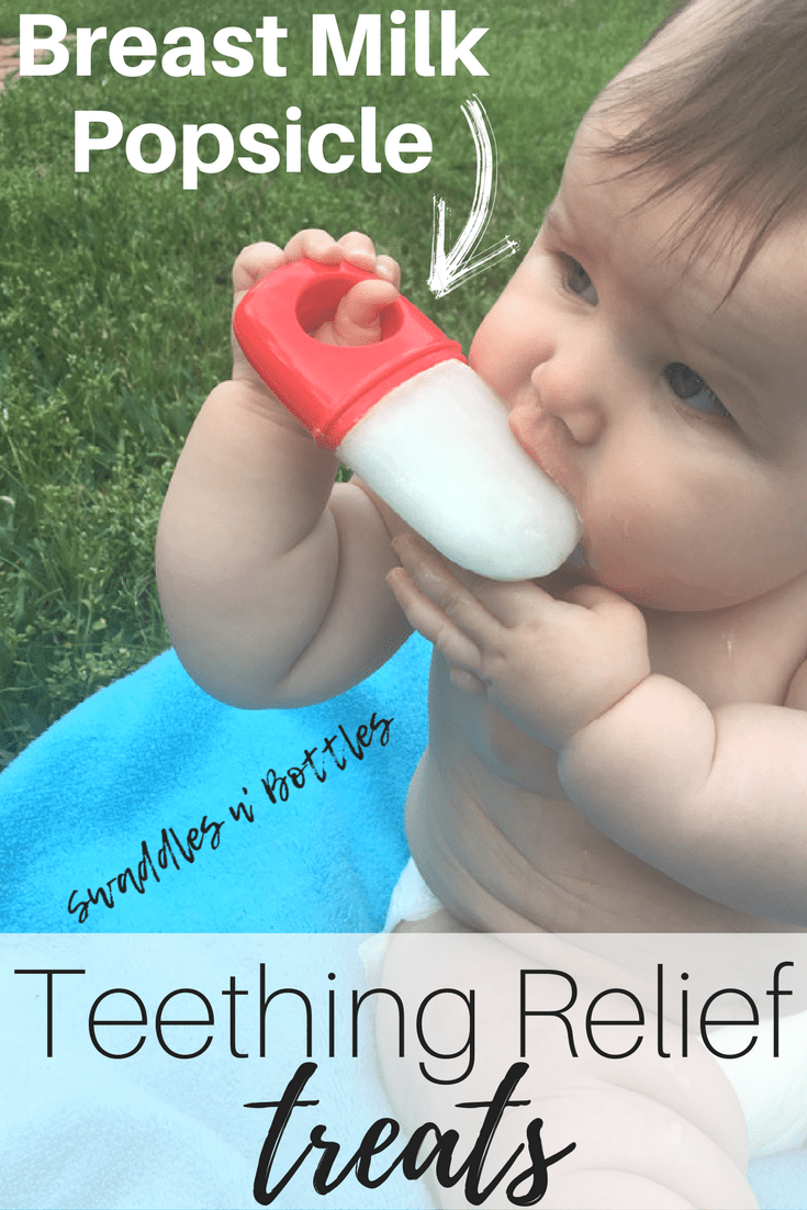 Teething Relief Treats- Frozen Breast Milk Popsicles!