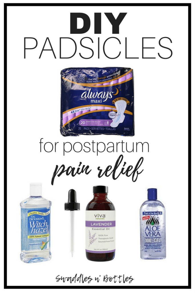 DIY Padsicles fo PostPartum Pain Relief