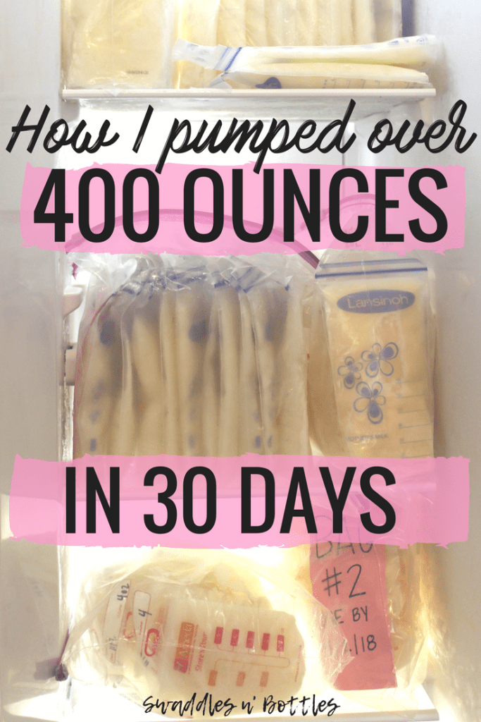 How I filled my freezer with breastmilk in 30 days