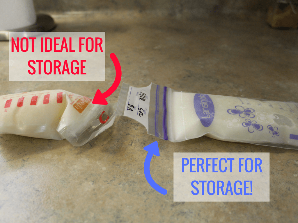 How to properly store breastmilk for a freezer stash