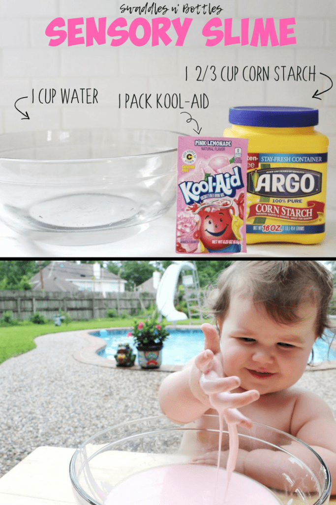 Sensory Slime- A Fun (edible) Toddler Activity!