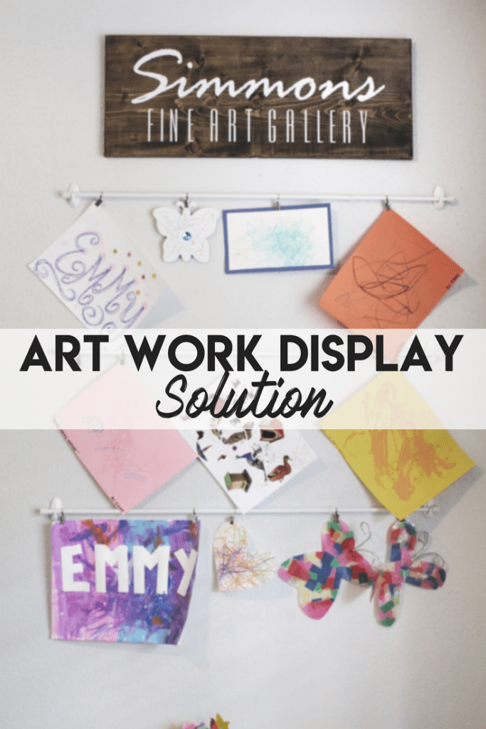 $15 DIY Artwork Display Solution for Playroom
