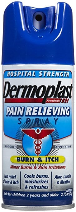 Dermoplast- postpartum spray for pain relief from stitches