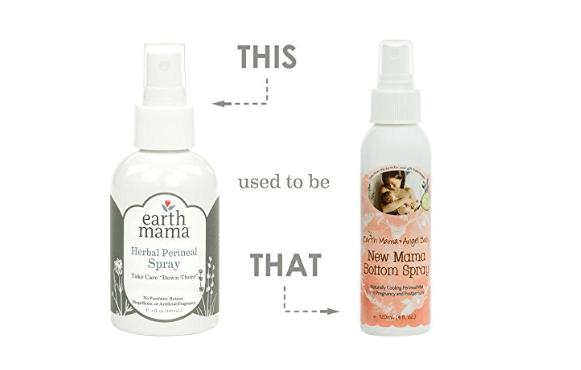 Earth mama bottom spray for postpartum relief