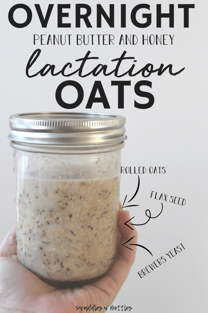 Overnight  Peanut Butter Honey Oatmeal for Lactation Support