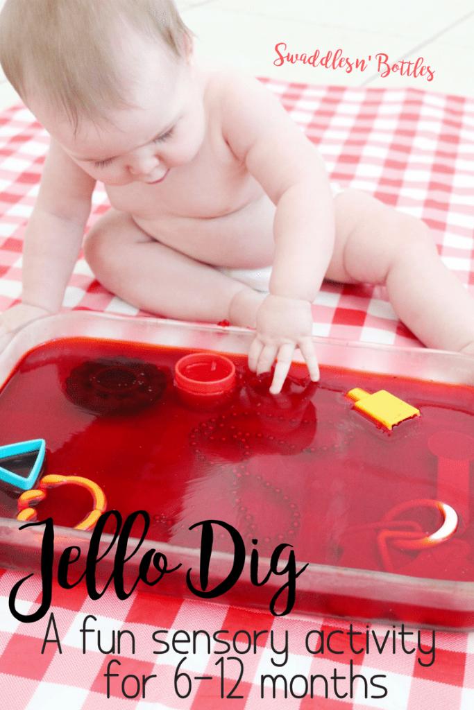 Jello Dig- a fun sensory activity for babies