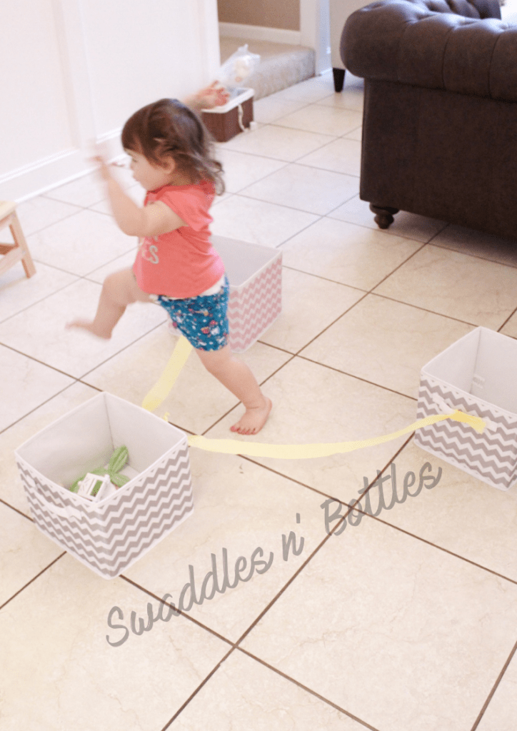 High energy activity for kids and toddlers- A DIY obstacle course!