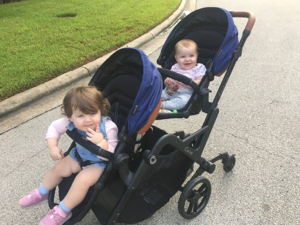 The Contours Curve is the best stroller for a baby and a toddler