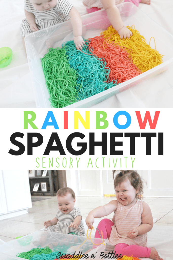 How to dye spaghetti for sensory play