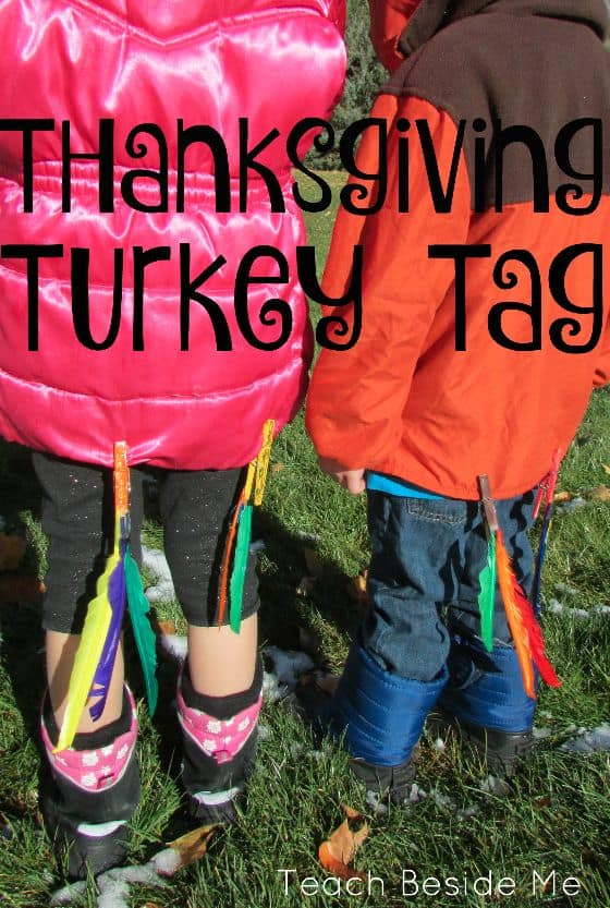 Turkey Tag! A great way to get your toddlers to burn some of that extra energy this holiday season!