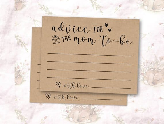 Advice for moms cards