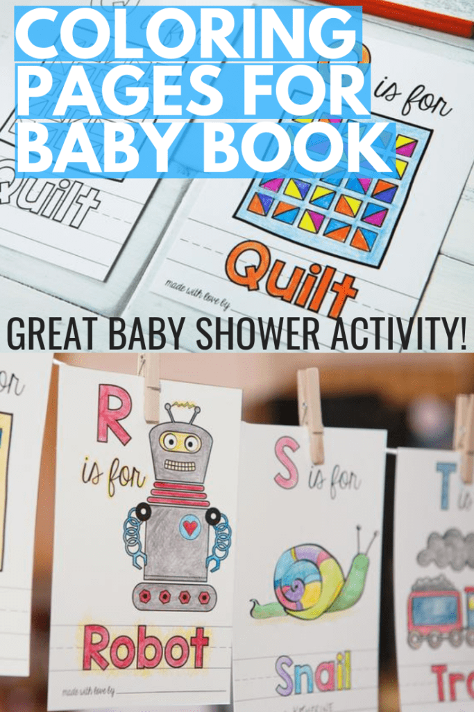 Coloring Pages for Baby Book