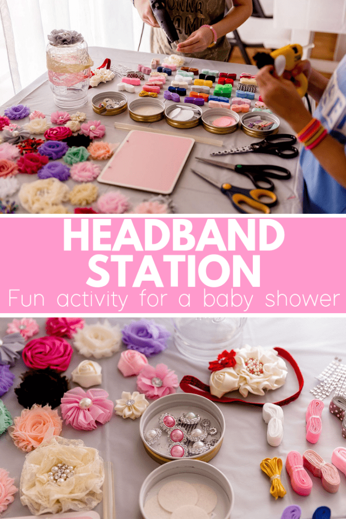 How to set up a headband station at a baby shower