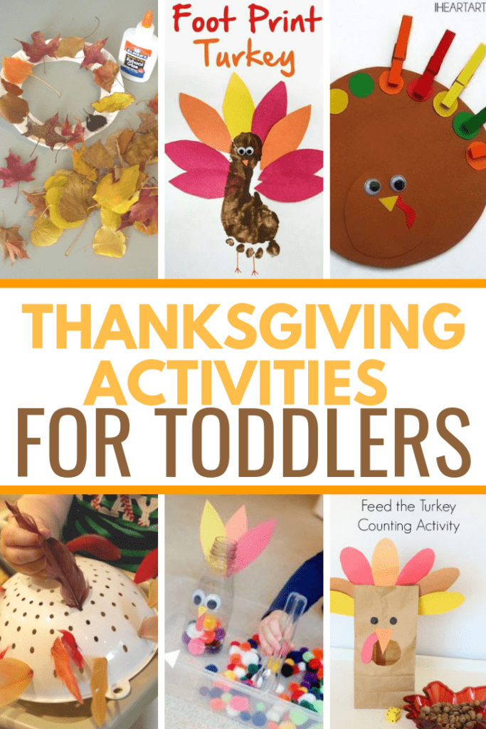 Thanksgiving Activities for Toddlers. Super simple crafts and fun things to do on Thanksgiving with toddlers. Some of these are educational too! They incorporate counting and color matching.