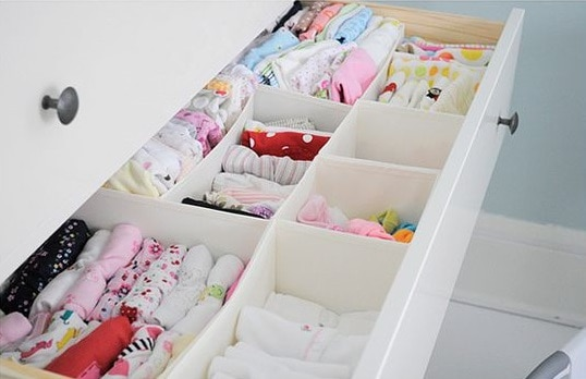 drawer storage for baby room