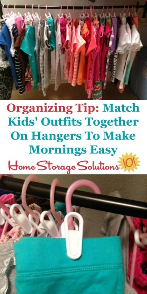 Clothes organizing hack for baby's nursery