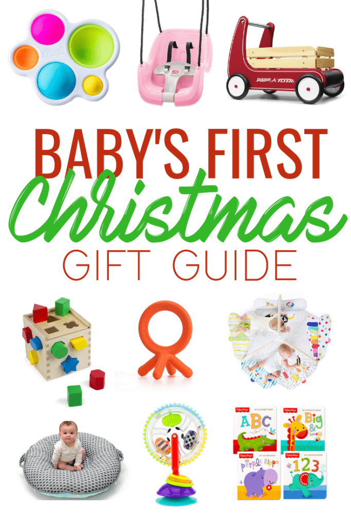 Baby's First Christmas: holiday gift guide on what to buy the littlest members of your family. A great list of toys that encourage development and learning while also having fun!