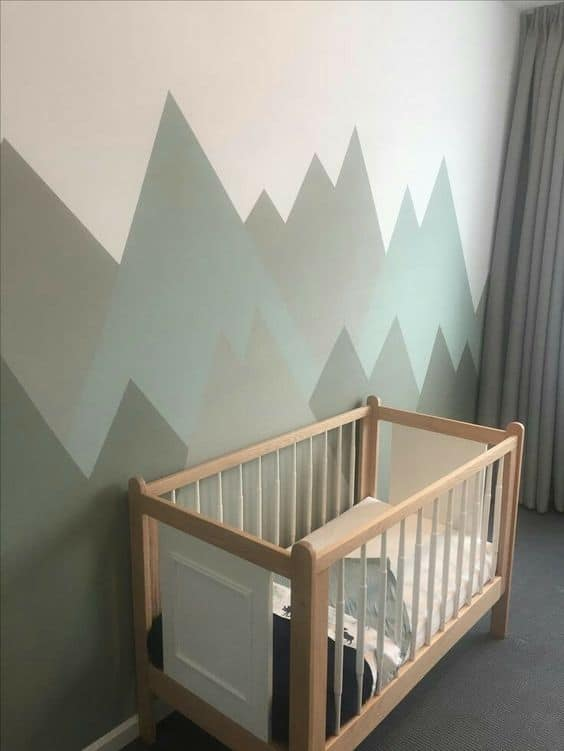 Mountain themed nursery for baby boy