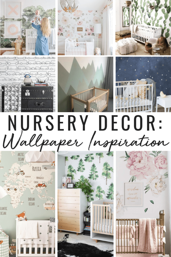 Wallpaper inspiration for baby boy and bay girl nursery.
