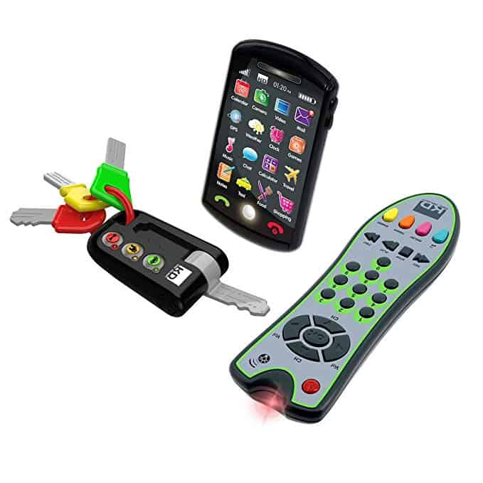 Toy cell phone and keys for the kiddo who wants to be just like mom and dad!