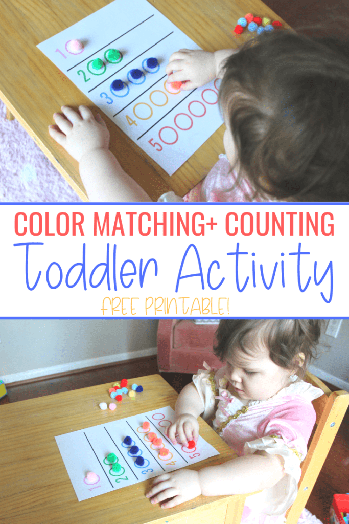 Color Matching and Counting Toddler Activity