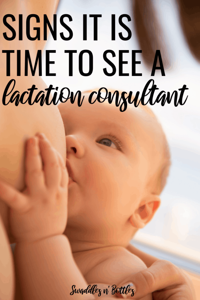 Signs that it is time to see a lactation counselor or consultant