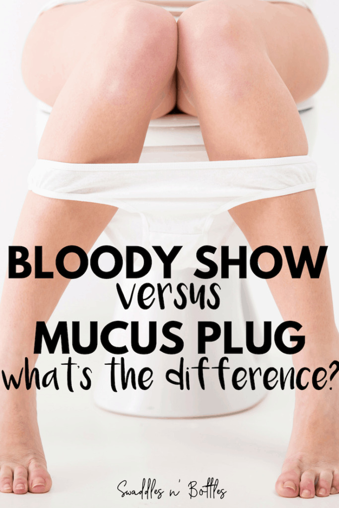 In the final weeks of pregnancy, woman should be on the look out for their bloddy show to begin or losing their mucus plug. Here's the difference between these two events