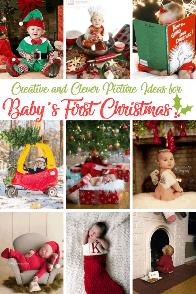 photo ideas for baby's first christmas