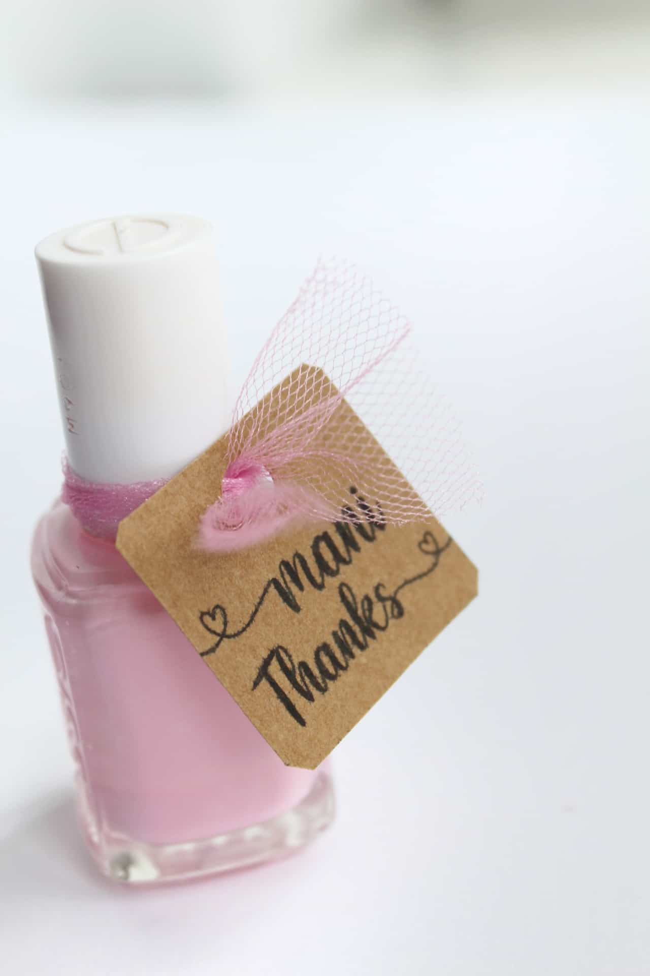 Thank you tags for nail polish baby shower