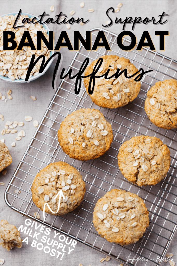 Lactation Support Banana Oat Muffins
