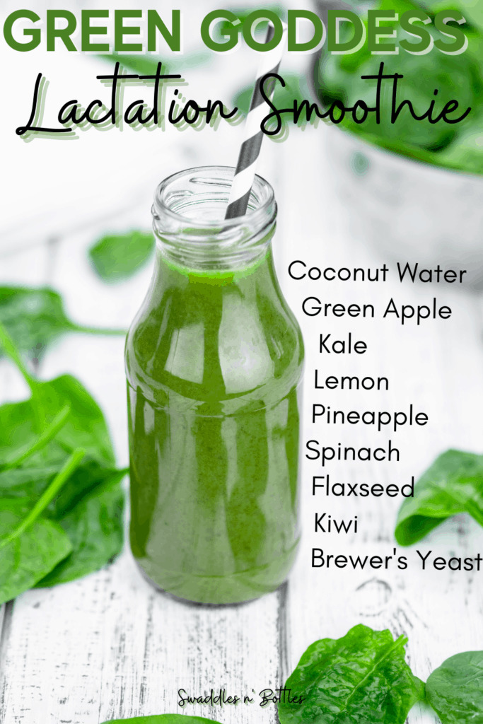 Green Goddess Lactation Smoothie for increased milk supply