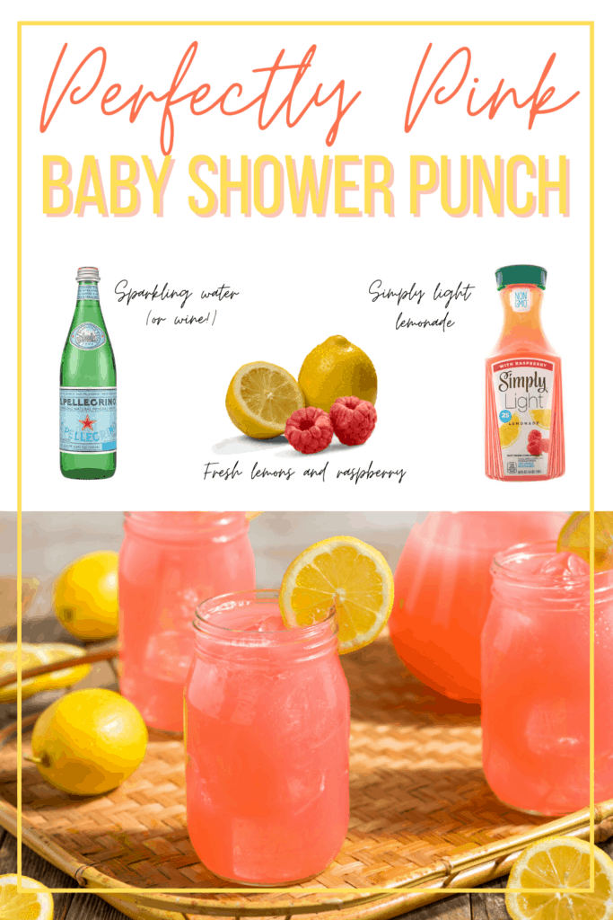 low sugar pink punch recipe for baby shower