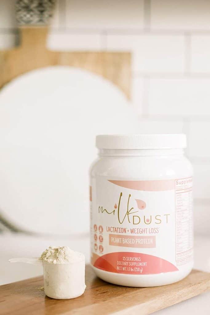 milk dust protein powder.